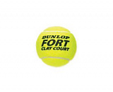 Теннисные мячи Dunlop Fort Clay Court (4 шт. в тубе)